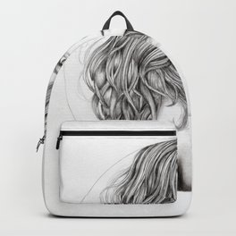 JennyMannoArt Graphite drawing Backpack