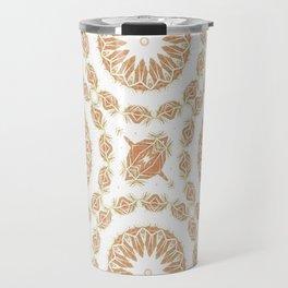 Citrine Mandala Tile Travel Mug
