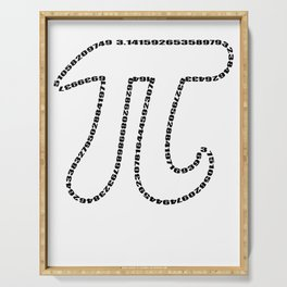 Math Pi Day Nerdy geek humor gift Irrational Serving Tray