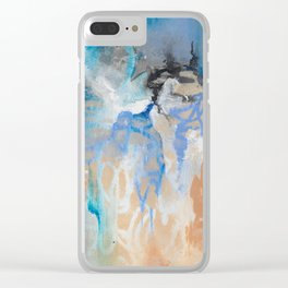 Blue Monday - by Jenny Bagwill Clear iPhone Case