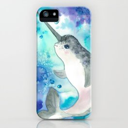 Baby narwhal iPhone Case