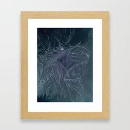 Negative lion Framed Art Print