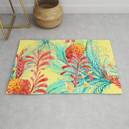 Kitsch Tropical Plants Rug