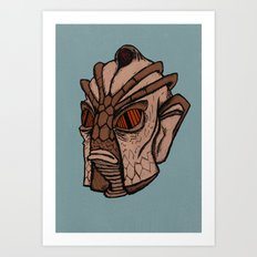 Classic Doctor Who - Silurian Art Print