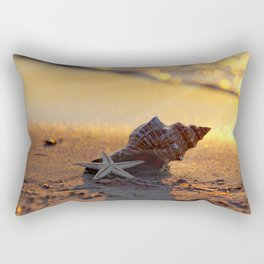 Golden Summer on the Beach Rectangular Pillow