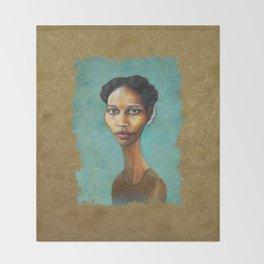 Portrait of Ayaan Hirsi Ali Throw Blanket
