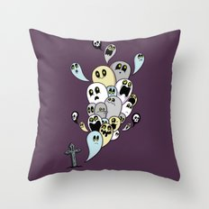 Spooky Ghosts Throw Pillow