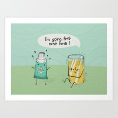 I'm going first Art Print