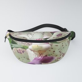 Romantic, Elegant Ivory Orchids With Purple-Pink Highlights Fanny Pack