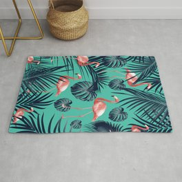 Tropical Flamingo Pattern #7 #tropical #decor #art #society6 Rug