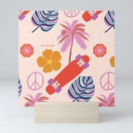peace, love, skate Mini Art Print