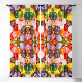 Cool colorful sweet Easter Jelly Beans Candy Blackout Curtain