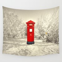 xmas Wall Tapestries featuring Xmas Post by Peaky40