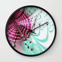 cake Wall Clocks featuring cake by Maureen Popdan