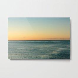 Sunrise and serene ocean Metal Print