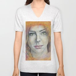 Frosted Windows of Color Unisex V-Neck