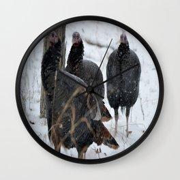 Turkey Trot Wall Clock