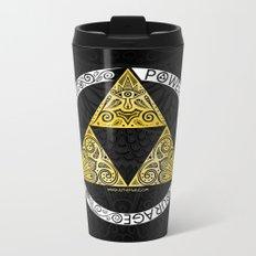 Zelda - triforce circle Metal Travel Mug