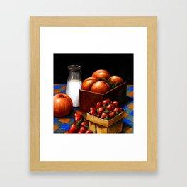 Milk & Fruit Framed Art Print