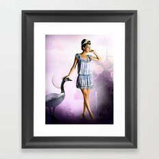 Purple Moon Framed Art Print