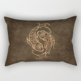 Vintage Rustic Pisces Zodiac Sign Rectangular Pillow