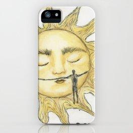 Sun hug iPhone Case
