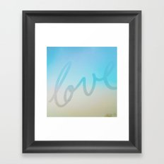 Love in ice blue & yellow  Framed Art Print