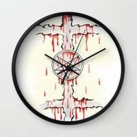 pentagram Wall Clocks featuring Pentagram by Anca Avram