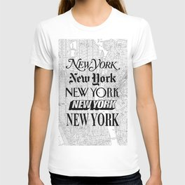 New York City black and white New York poster I love heart NYC Design black-white home wall decor T-shirt