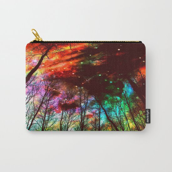 Black Trees Haunting Space Carry-All Pouch
