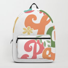 Peace & Love | Hippie Hippies Costume Gifts Backpack