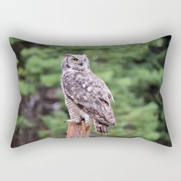 Great Horned Owl on a Post Rectangular Pillow