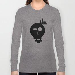 FADED BLAACK SKULL Long Sleeve T-shirt