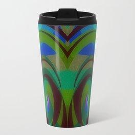 Green Oval Abstract Travel Mug