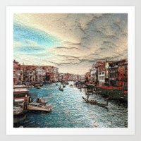 venice Art Prints featuring Venice by MehrFarbeimLeben