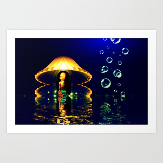 Close your eyes and create the magic Art Print