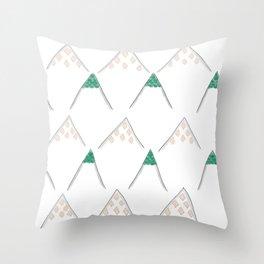 Jewel Mountains Throw Pillow