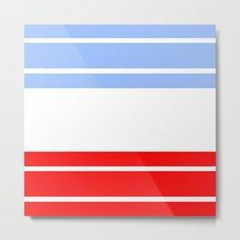 TEAM COLORS 9...Red,light blue, white Metal Print