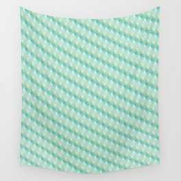 Green Pattern Wall Tapestry