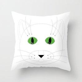 CADcatgreeneyes Throw Pillow