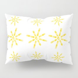 Yellow Sunburst Circles Pillow Sham