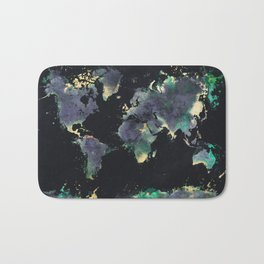 world map 126 #worldmap #map Bath Mat