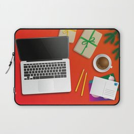 workplace at christmas time Laptop Sleeve
