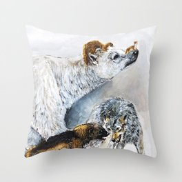 Awesome mustelids Throw Pillow