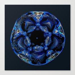 Electric Blue Planet Canvas Print