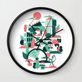 A sunny morning in Milan Wall Clock