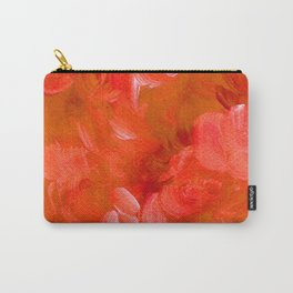 Bold Orange Brushstrokes Carry-All Pouch