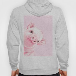 Sneaky Baby Pink Pig Hoody