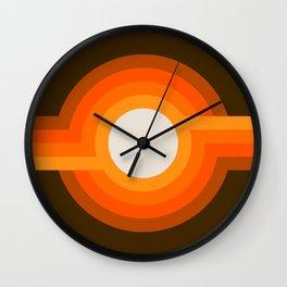Golden Sunspot Wall Clock