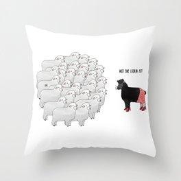 Wot ewe looking at? Throw Pillow